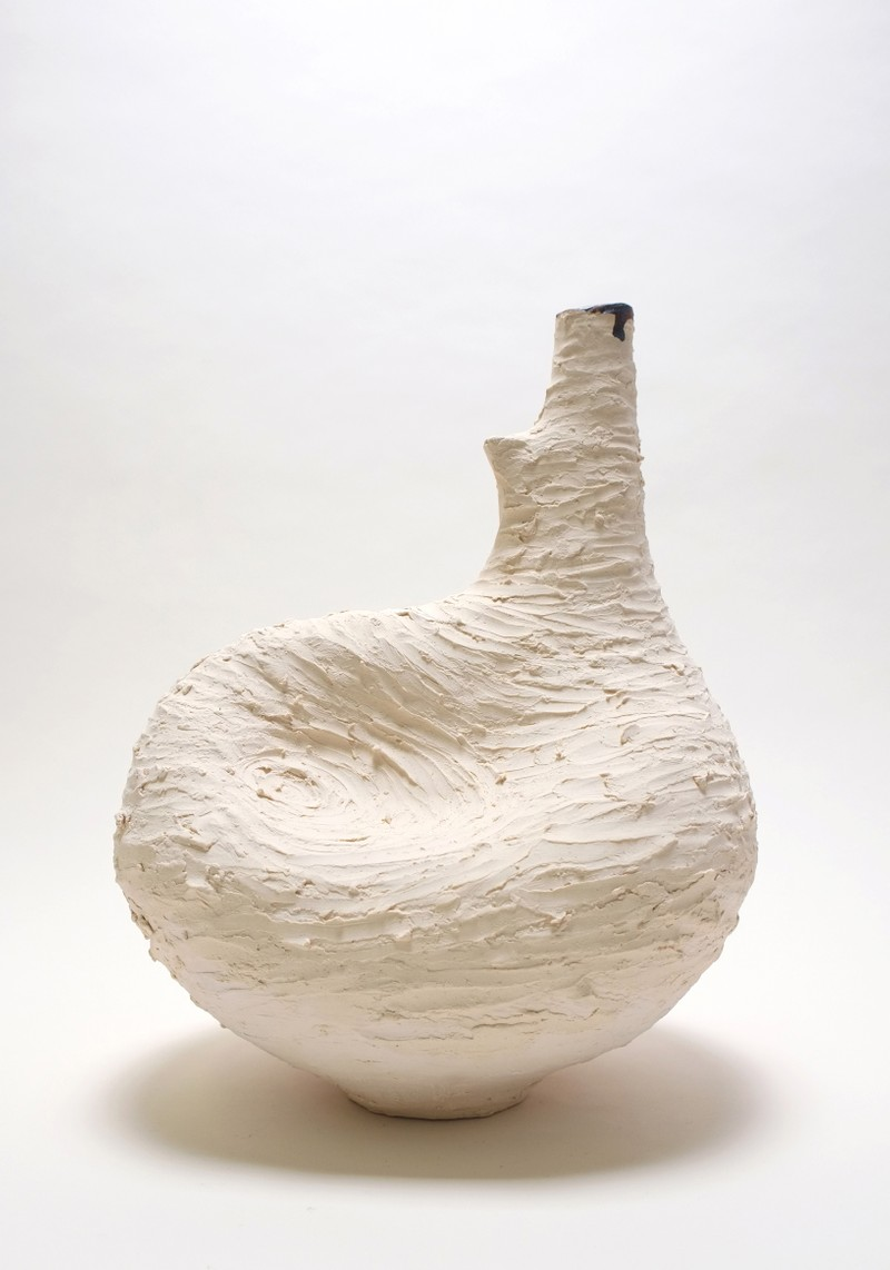 Artwork – Small Vessel in White - Texture Series 1, 2019