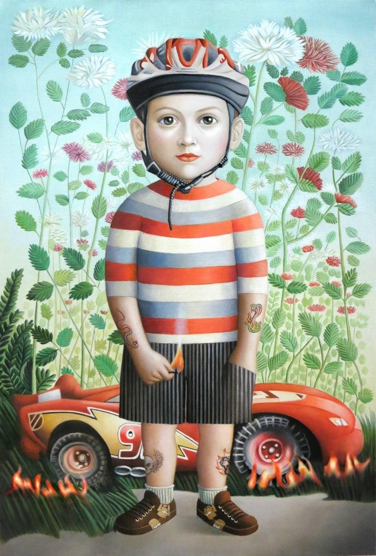 """Artwork – Amy Hill, """"Boy with Car"""", 2016"""