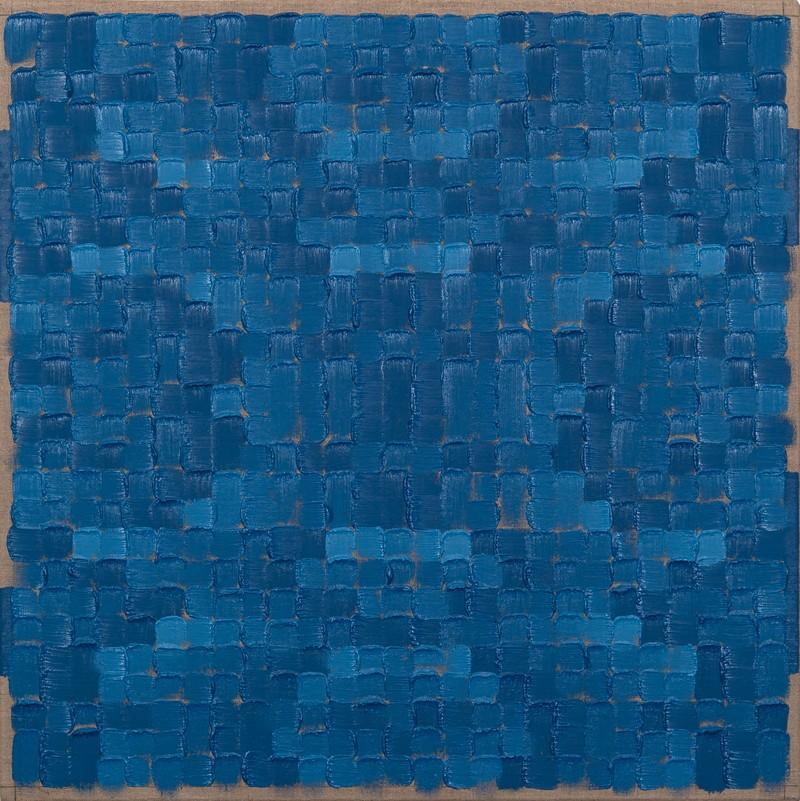 Artwork – Quadrilateral Grid 3 (Cobalt Chromite Blue-Green Spinel), 2019