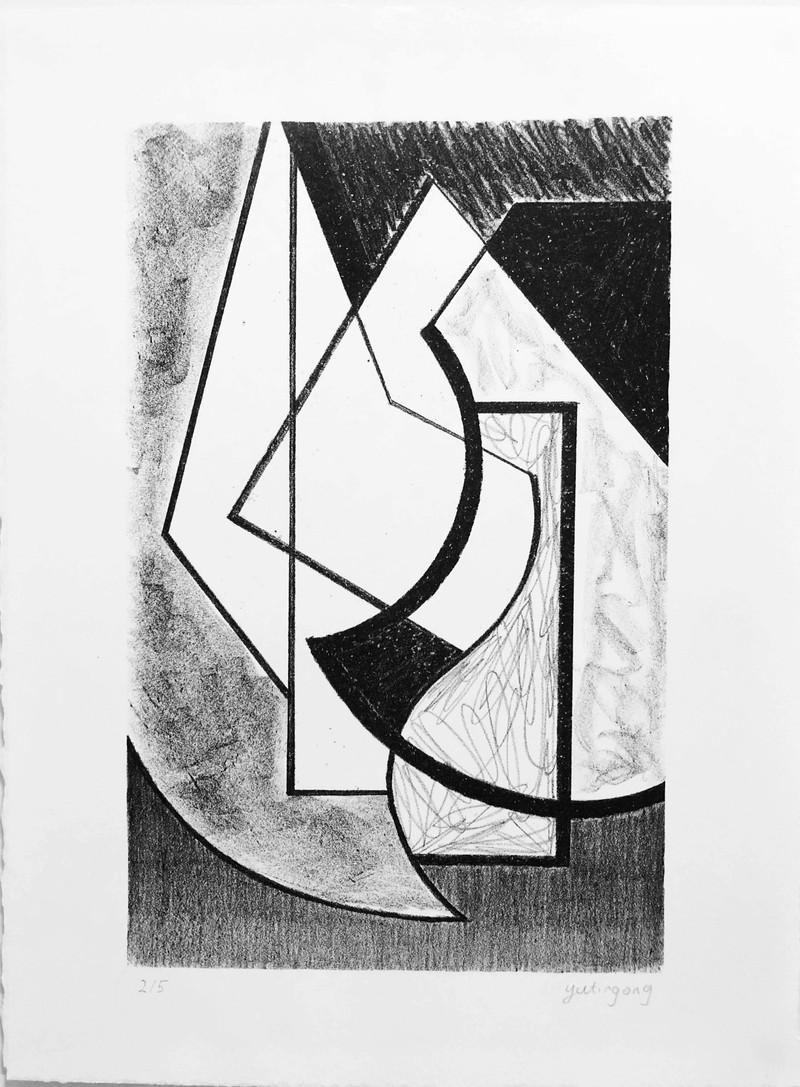 Artwork – Spatial relations (Litho print no.3), 2019