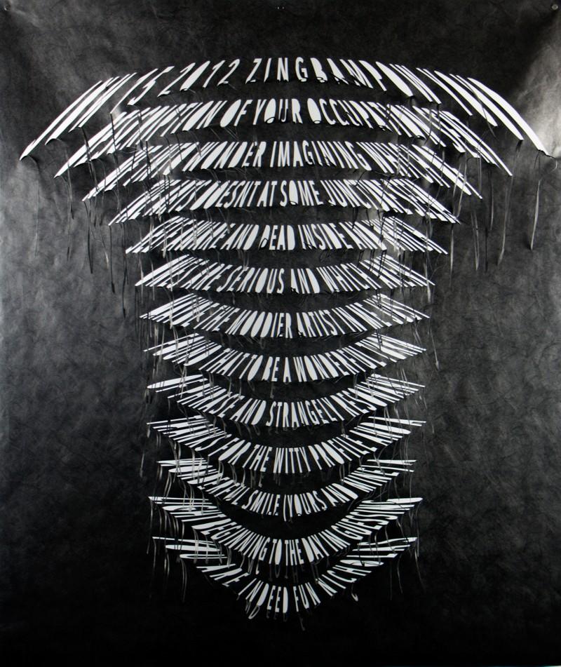 Artwork – ZingBamPow, from Left Hanging series, 2019