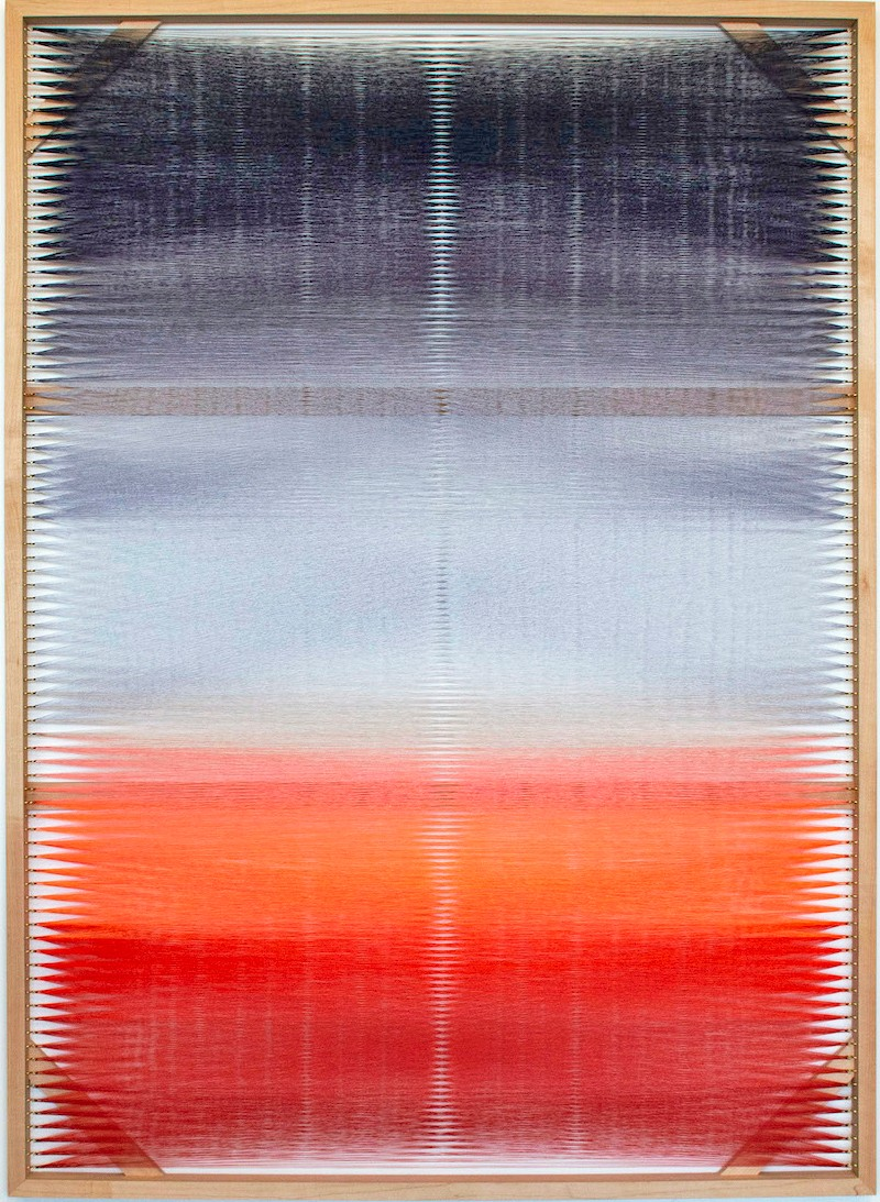 Artwork – Woven Screen (Fire Gradient II), 2018