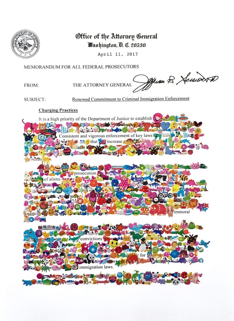 Artwork – Redaction Memorandum April 11, 2017 (Page 1), 2018