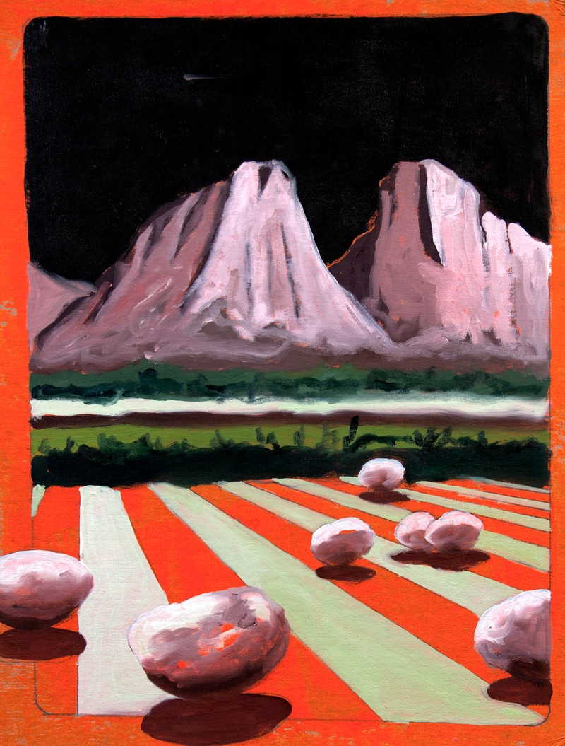 Artwork – Mountain with Stripes, 2018
