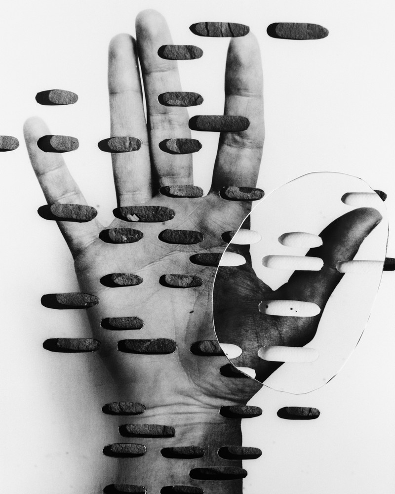 Artwork – Kleroterion Hand with slate and cork ground, 2018