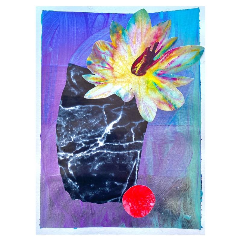 Artwork – Flower, Vase, Marble, 2020