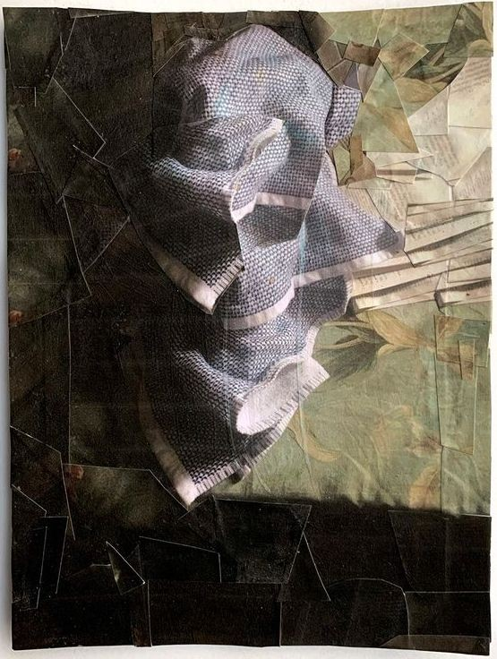 Artwork – TZIREL KAMINETZKY  :  Domestic Material : Kitchen Towel, 2020