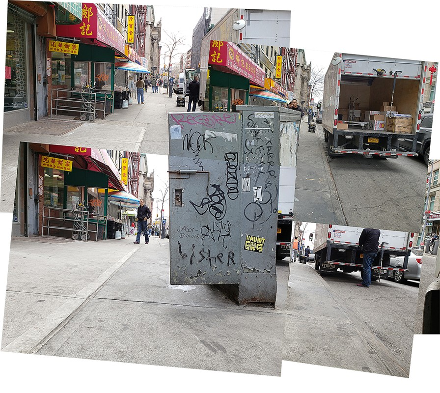 Artwork – Markus Holtby, Chinatown Phone Box: Side Face, 2019