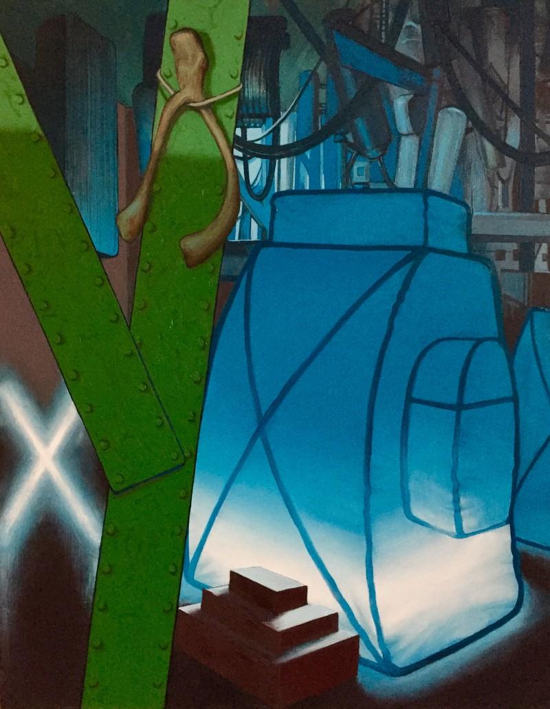 Artwork – Blue Luminaire, 2021