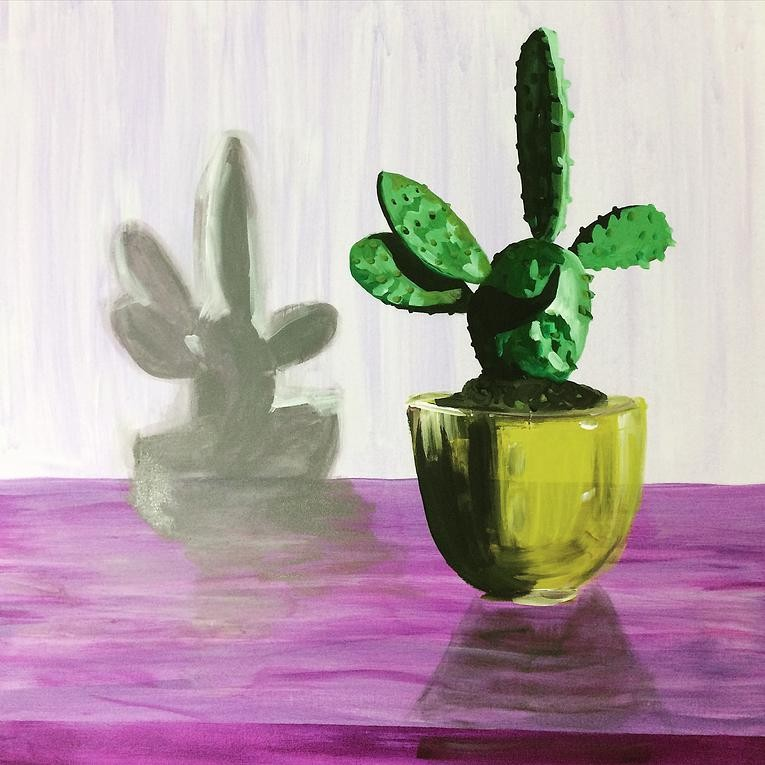 Artwork – Cactus in Golden Vase, 2015