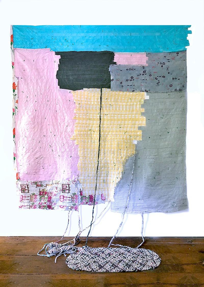 Artwork – Wearing: Yardage, Blue Stripe, 2020