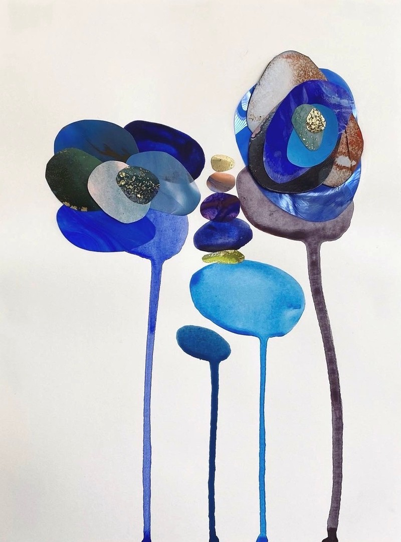 Artwork – Composition in Blue, 2020