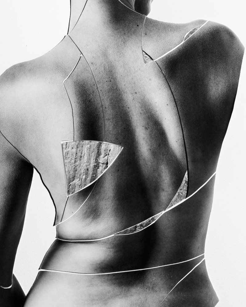 Artwork – Back in S-Curve with marble fragments (attributed to Praxiteles or Klein), 2018