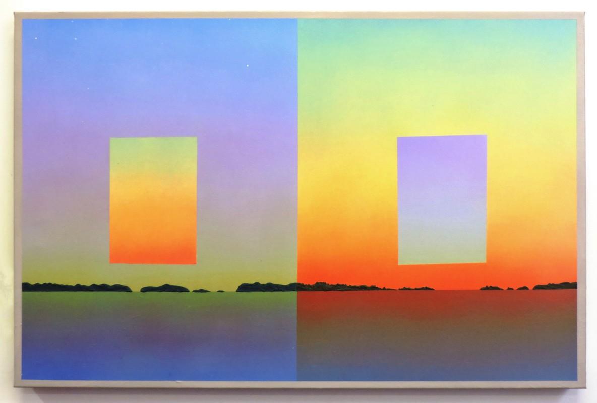 Artwork – Pale Blue Against Orange (The Chesapeake), 2019