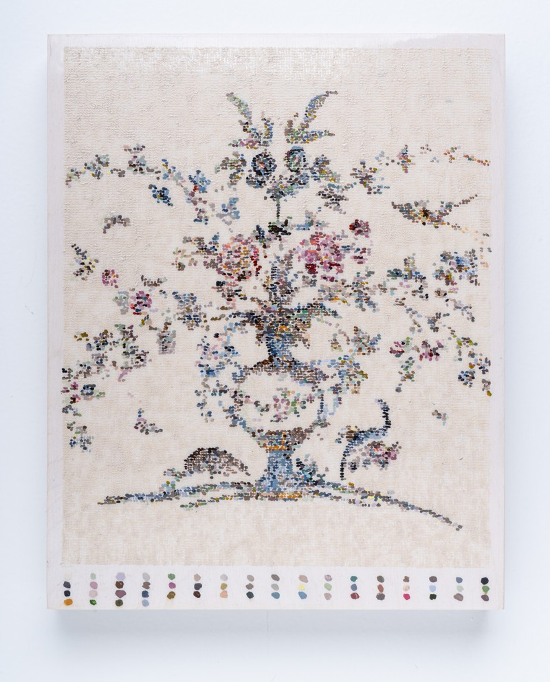 Artwork – After French Wallpaper (Vase with Birds and Palette), 2020