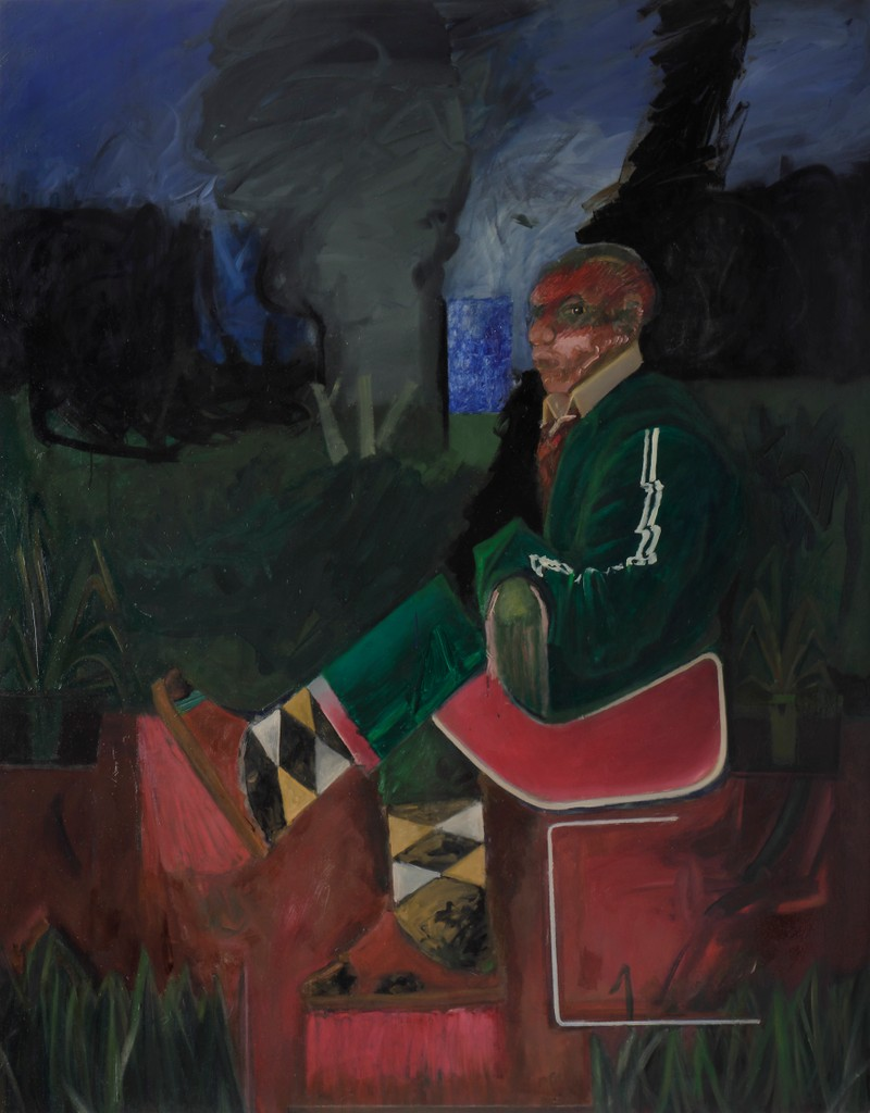 Artwork – Piotr Kotlicki, Art critic on his terrace, 2019