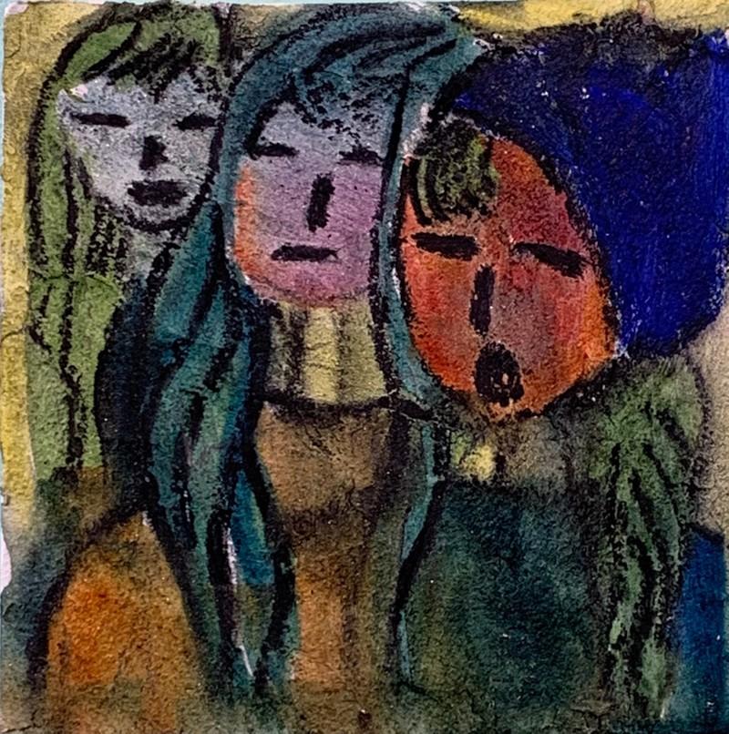 Artwork – Bianca Lott, Three Figures, 2019
