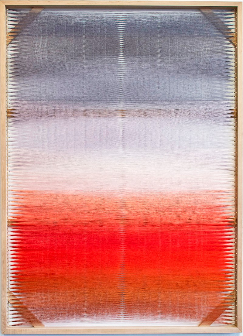Artwork – Woven Screen (Fire Gradient I), 2018