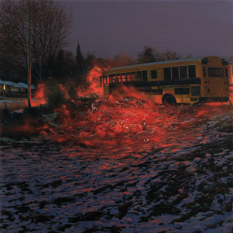 "Artwork – Nate Burbeck, ""Apparition (School Bus)"", 2019"