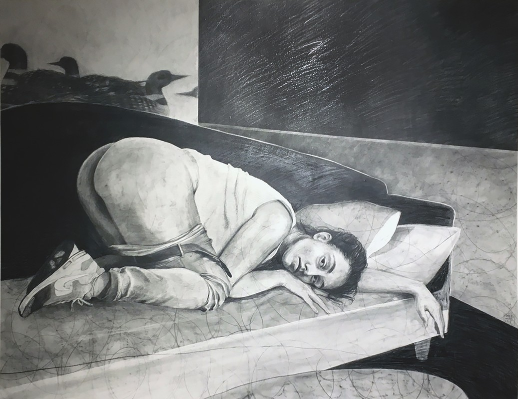 "Artwork – Frances Waite ""love like a loon"", 2017"