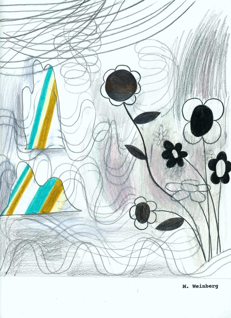 Artwork – Flowers/Mountains, 2019