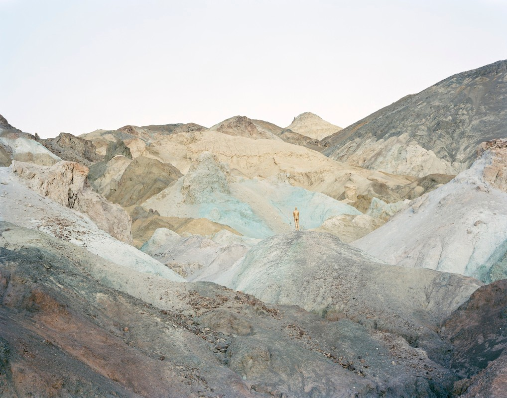"Artwork – David Benjamin Sherry, ""Self-Portrait as Golden (Death Valley, CA)"", 2013"