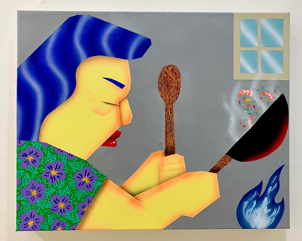 Artwork – Loc Huynh, Mom Cooking, 2021