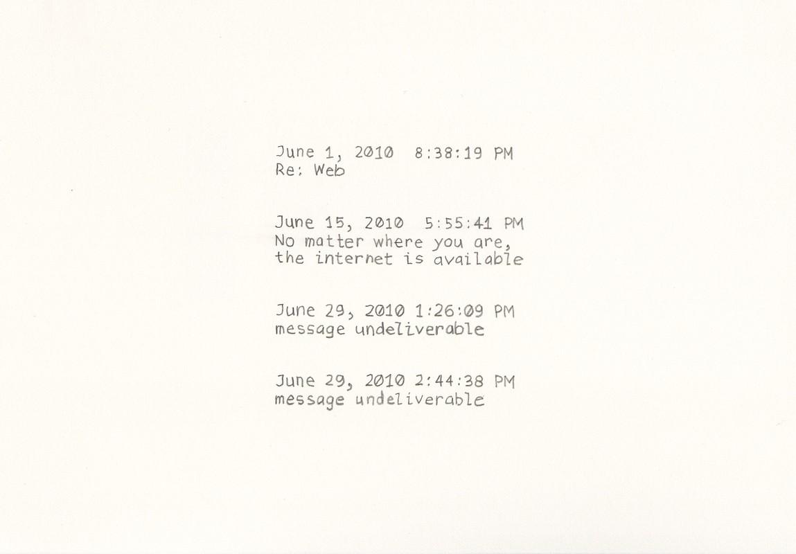 Artwork – Spontaneous Narratives (Re: Web), 2010