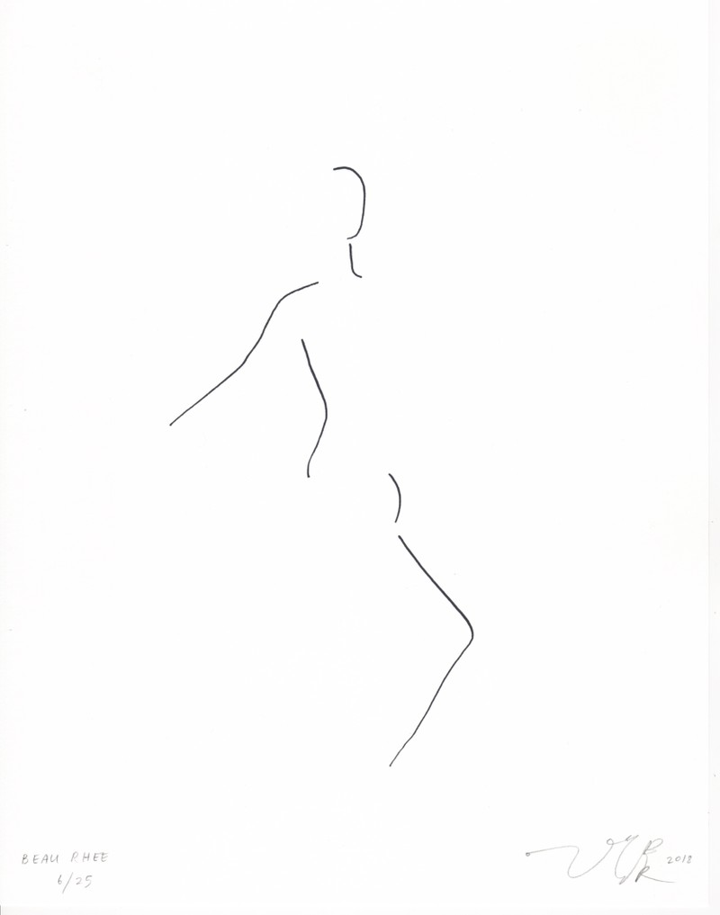 Artwork – Figure Line (Body-Space), 2018
