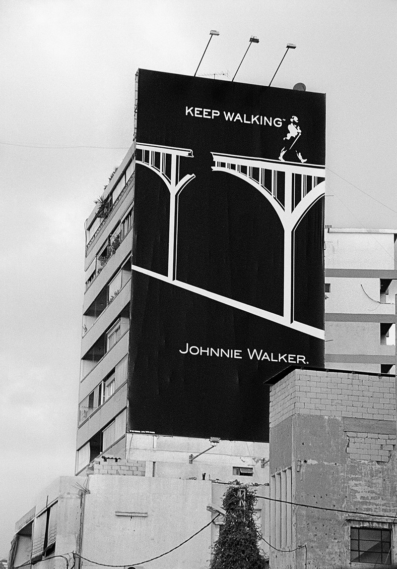 Artwork – Johnnie Walker Post-War Advertisement. Beirut, Lebanon, 2014