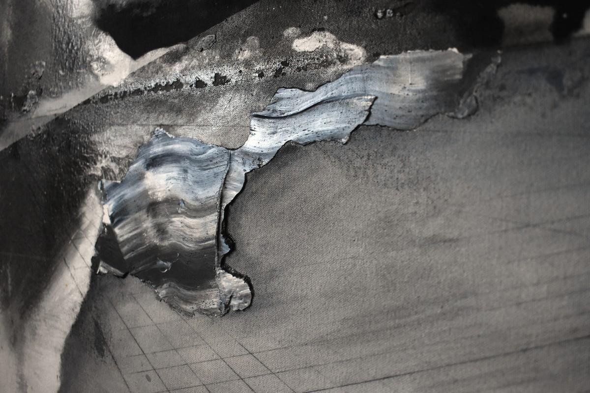 Artwork – American Landscape 7 (Cold Black, Flake White, German Earth, Graphite Grey, Italian Black, Titan Buff, Titanium White), 2019