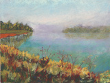 Autumn's Morning, Fairfield Reservoir by Rosemary Lucente