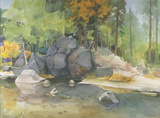 Merced River by Mabel Minnich Miller
