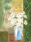 White Flowers in Blue Vase by Stephan Whittle