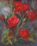 Deb's Poppy Garden by Jane Elizabeth