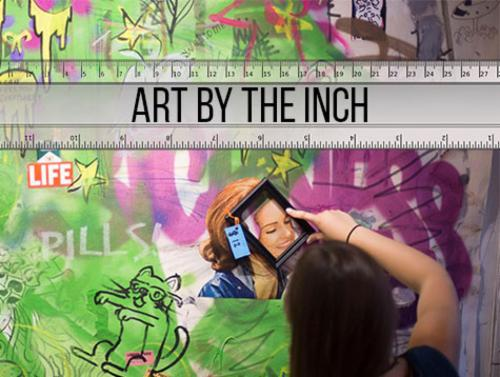 """Art by the Inch""  