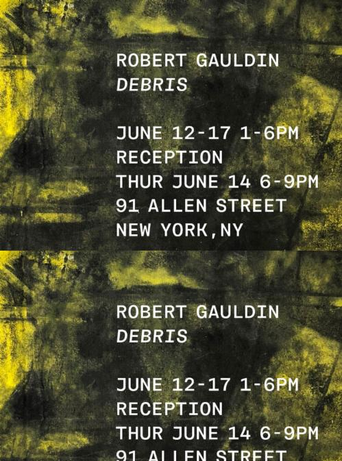 "Robert Gauldin ""Debris"" 