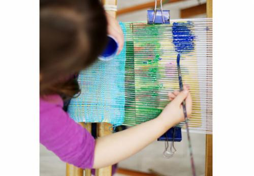 """Fiber Arts Kids and Family Workshops""  