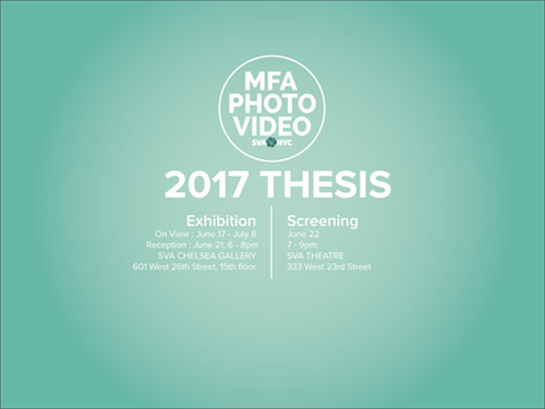 SVA MFA Photography, Video and Related Media Thesis Exhibition  | Events Calendar