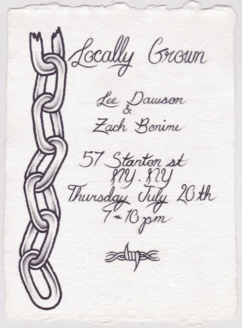 """Locally Grown"" Lee Dawson and Zach Bonime 