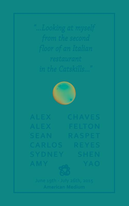 """...Looking at myself from the second floor of an Italian restaurant in the Catskills...""  