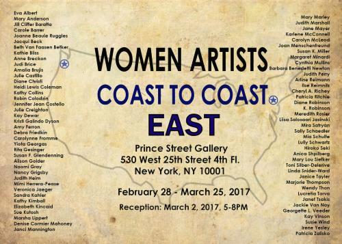 Women Artists Coast to Coast - EAST    Events Calendar