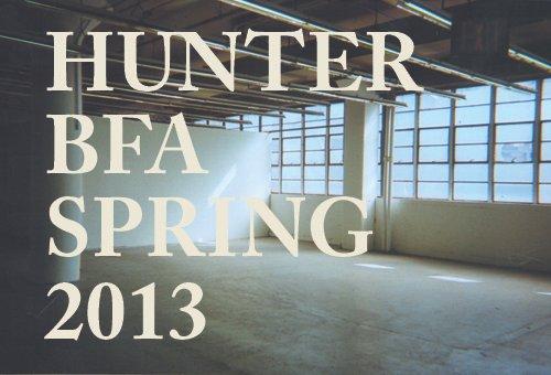 Hunter BFA Degree Show  | Events Calendar