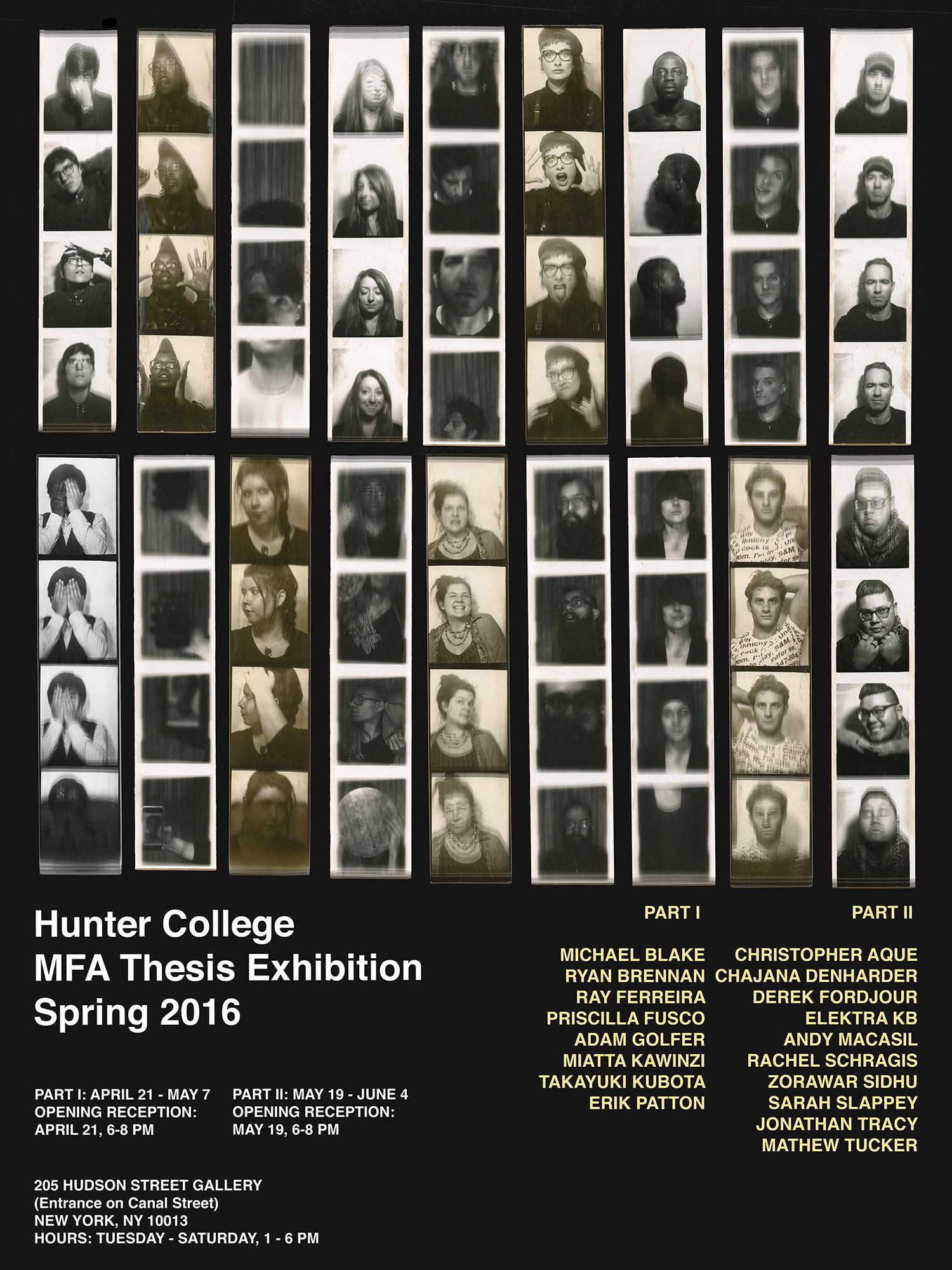 Hunter College MFA Thesis Exhibition, Part II  | Events Calendar