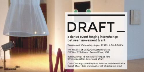 DRAFT_, a dance event forging interchange between movement & art  | Events Calendar