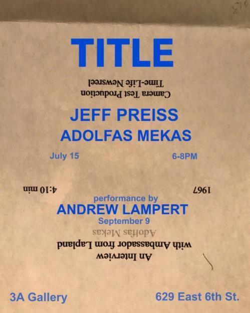 "Jeff Preiss ""Title"" | Events Calendar"