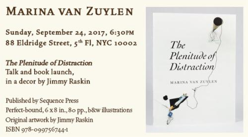 Marina van Zuylen - The Plenitude of Distraction Talk & Book Launch in a decor by Jimmy Raskin | Events Calendar