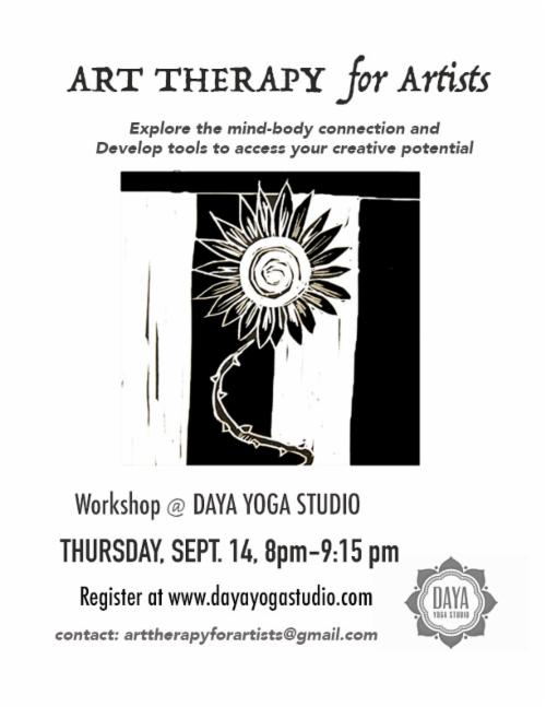 Art Therapy for Artists An Workshop led by Creative Arts Therapists at Daya Yoga Studio | Events Calendar