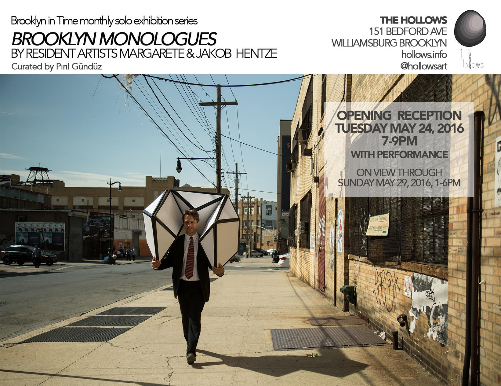 Brooklyn Monologues by Resident Artists Margarete & Jakob Hentze  | Events Calendar