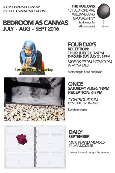 Bedroom as Canvas Solo Exhibition Series Videos from Her Room | Events Calendar